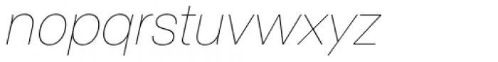 ABC Normal White Oblique Font LOWERCASE