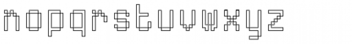 ABS 6 Font LOWERCASE