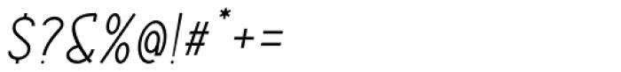 ABTS Aviator Light Italic Font OTHER CHARS
