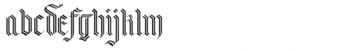 Abby Split Font LOWERCASE