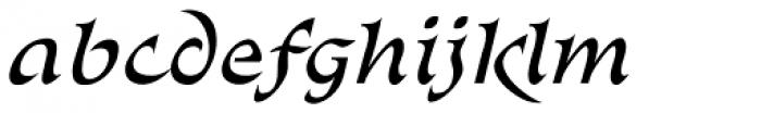 Abetka Italic Font LOWERCASE