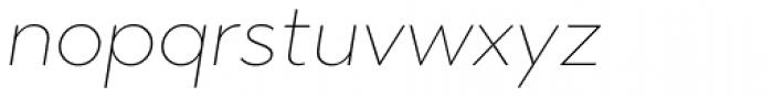Abrade Thin Italic Font LOWERCASE