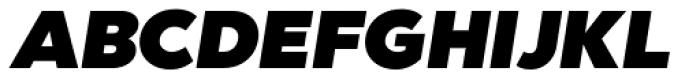Abrade Ultra Italic Font UPPERCASE