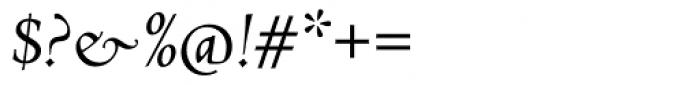 Abrams Venetian Italic Font OTHER CHARS