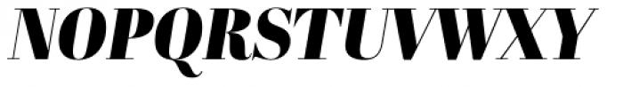 Abril Display Black Italic Font UPPERCASE