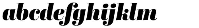 Abril Display Black Italic Font LOWERCASE
