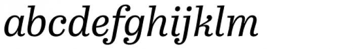 Abril Text Italic Font LOWERCASE