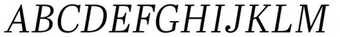Abril Text Light Italic Font UPPERCASE