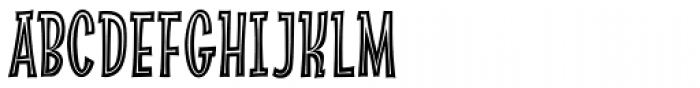 Absolutely Fabulous Inside Font UPPERCASE
