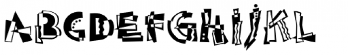 Abstract Std Font LOWERCASE