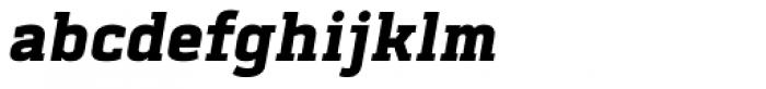 Abula Black Italic Font LOWERCASE