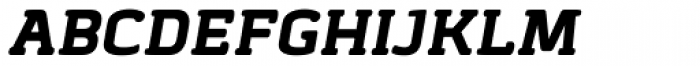 Abula Organic Black Italic Font UPPERCASE