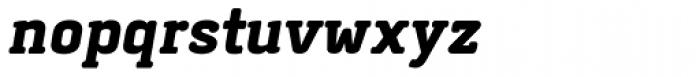 Abula Organic Black Italic Font LOWERCASE