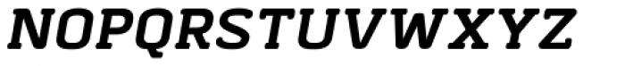 Abula Organic Bold Italic Font UPPERCASE