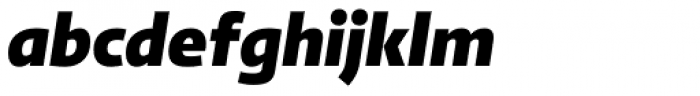 abc Allegra Black Italic Font LOWERCASE