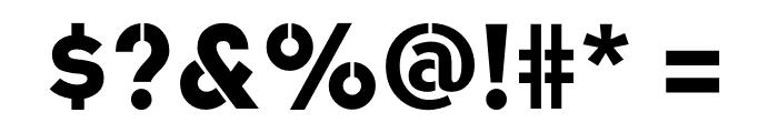 Academy Sans Stencil Bold Font OTHER CHARS