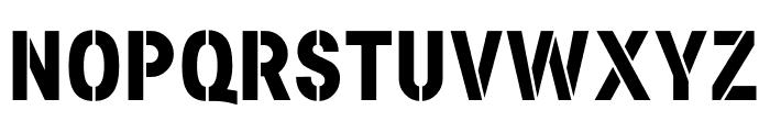Academy Sans Stencil Bold Font UPPERCASE