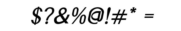 Accordion-BoldItalic Font OTHER CHARS