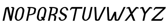 Accordion-BoldItalic Font UPPERCASE