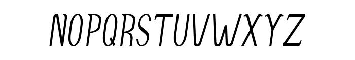 Accordion-CondensedItalic Font UPPERCASE