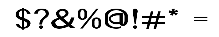 Accordion-ExpandedBold Font OTHER CHARS