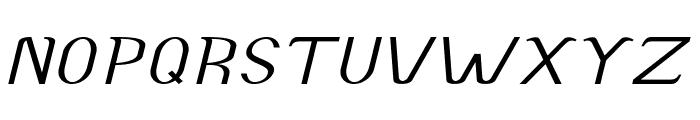 Accordion-ExpandedItalic Font UPPERCASE