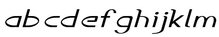 Accordion-ExtraexpandedItalic Font LOWERCASE