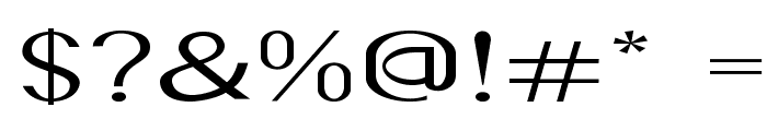 Accordion-ExtraexpandedRegular Font OTHER CHARS