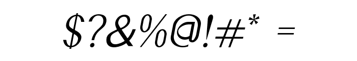 Accordion-Italic Font OTHER CHARS