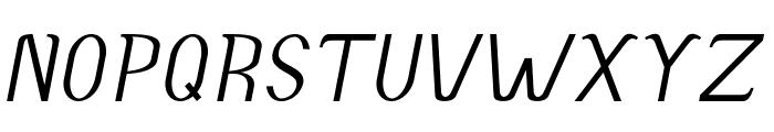 Accordion-Italic Font UPPERCASE
