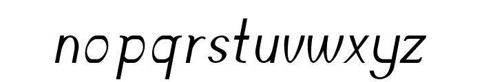 Accordion-Italic Font LOWERCASE