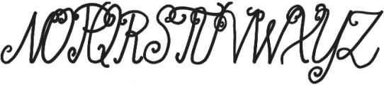 Acarita otf (400) Font UPPERCASE
