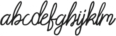 Acarita otf (400) Font LOWERCASE