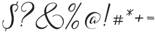 Acasia Regular otf (400) Font OTHER CHARS
