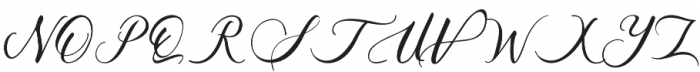 Acasia Regular otf (400) Font UPPERCASE