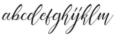 Acasia Regular otf (400) Font LOWERCASE