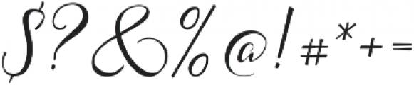 Acasia Regular ttf (400) Font OTHER CHARS