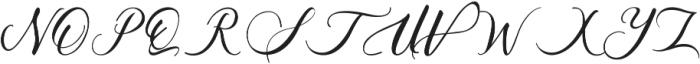 Acasia Regular ttf (400) Font UPPERCASE