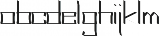 Acclaim regular otf (400) Font LOWERCASE
