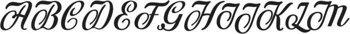 Achelan Script otf (400) Font UPPERCASE