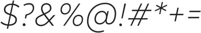 Acherus Feral Extra Light Italic otf (200) Font OTHER CHARS