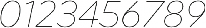 Acherus Feral Thin Italic otf (100) Font OTHER CHARS