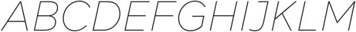 Acherus Feral Thin Italic otf (100) Font UPPERCASE