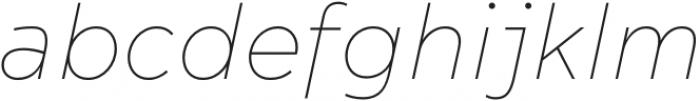 Acherus Feral Thin Italic otf (100) Font LOWERCASE