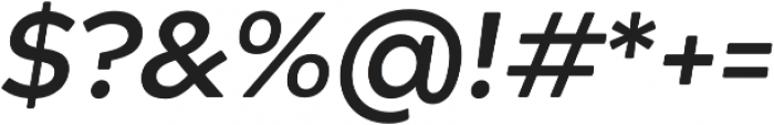 Acherus Grotesque Bold Italic otf (700) Font OTHER CHARS