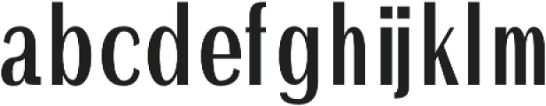 Ackley otf (400) Font LOWERCASE