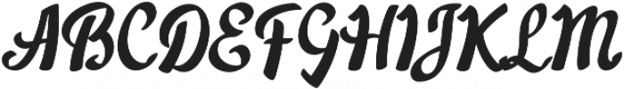 Acratica Regular otf (400) Font UPPERCASE