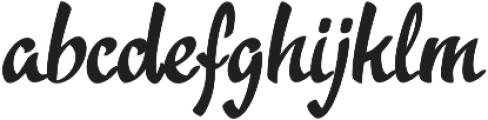 Acratica Regular otf (400) Font LOWERCASE