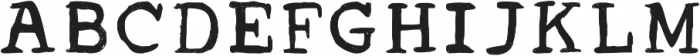 Acrylic Hand Serif ttf (400) Font UPPERCASE