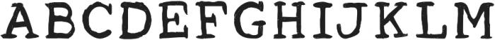 Acrylic Hand Serif ttf (400) Font LOWERCASE